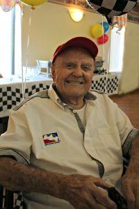 Frank Burany, Centenarian, 100, birthday, 100 years old, three pillars senior living communities