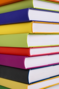 books, back to school, colorful books