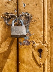 Padlock, lock, locked unit, secure